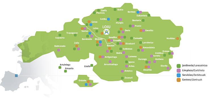 Mapa Municipios Inclusivos Lantegi Batuak