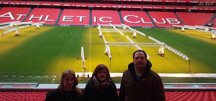 Voluntarios de Lantegi Batuak en Fundación Athletic